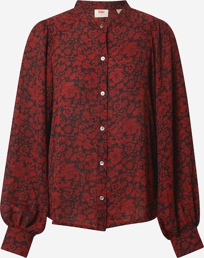 LEVI'S Bluse 'HADLEY' in dunkelrot / schwarz, Produktansicht