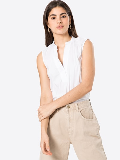 MORE & MORE Bluse in weiß, Modelansicht