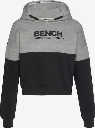 BENCH Hoodie in graumeliert / schwarz, Produktansicht