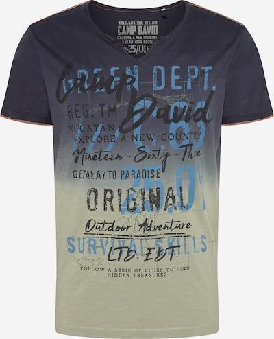CAMP DAVID T-Shirt en bleu fumé / bleu-gris / gris fumé / noir, Vue avec produit