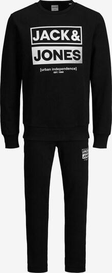JACK & JONES Joggingpak in de kleur Zwart / Wit, Productweergave