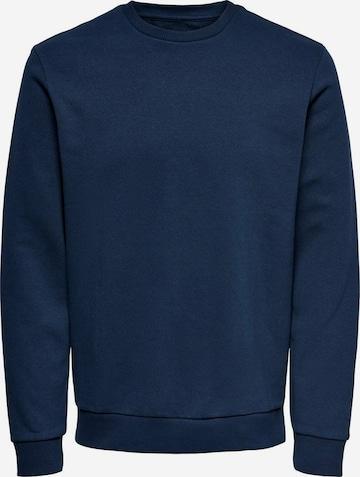 Only & Sons Sweatshirt 'Ceres' in Blau