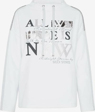 Soccx Turtleneck-Sweatshirt mit Artwork in weiß, Produktansicht