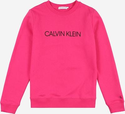 Calvin Klein Jeans Sweatshirt in magenta / schwarz, Produktansicht