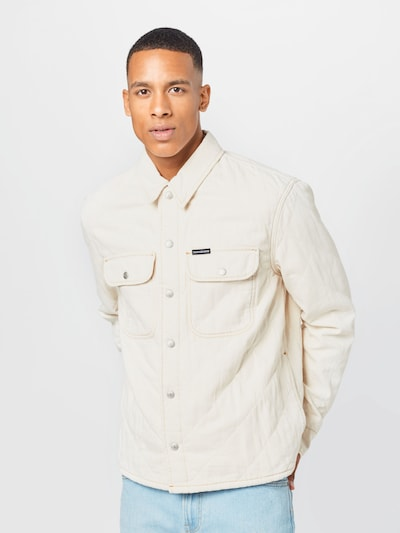 Calvin Klein Jeans Prechodná bunda - biely denim: Pohľad spredu