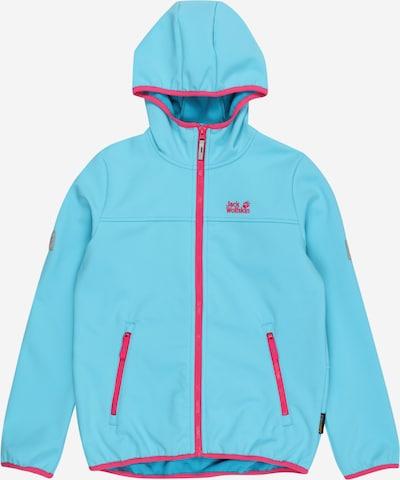 Giacca funzionale 'Fourwinds' JACK WOLFSKIN di colore blu chiaro / rosa neon, Visualizzazione prodotti