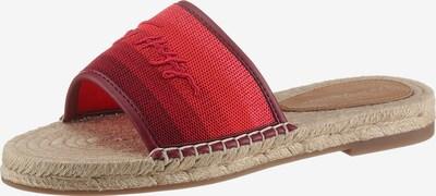 TOMMY HILFIGER Pantolette in beige / rot, Produktansicht