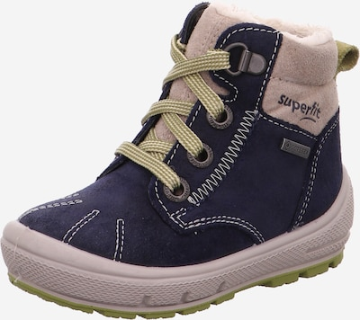 SUPERFIT Stiefel 'GROOVY' in beige / marine / khaki, Produktansicht