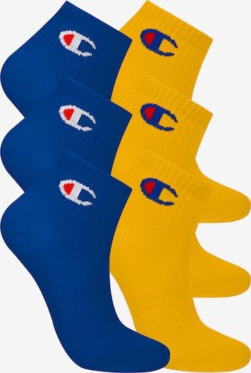 Champion Authentic Athletic Apparel Sneakersocken ' 6er-Pack Ankle Socks Kids ' in blau / gelb, Produktansicht
