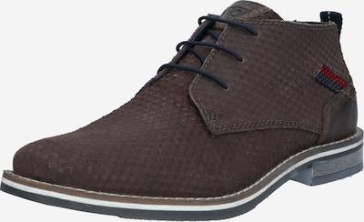 bugatti Zapatos con cordón 'Kiano' en azul oscuro / taupe / rojo, Vista del producto