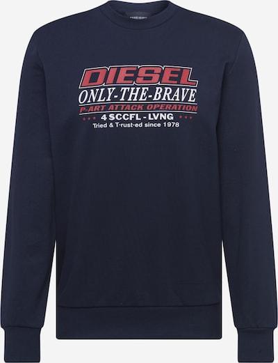 DIESEL Sweatshirt 'GIRK' in dunkelblau / pastellrot / weiß, Produktansicht