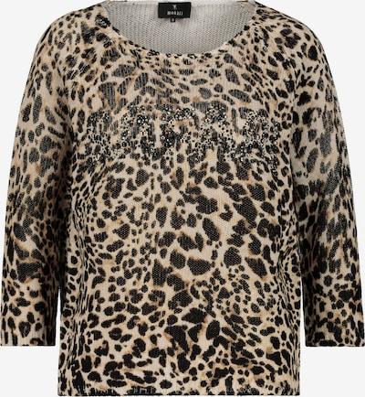 monari Pullover in beige / camel / schwarz, Produktansicht