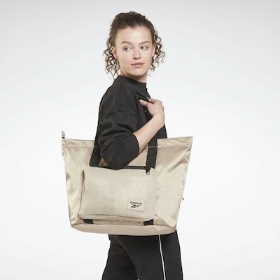 Reebok Sport Sporttasche 'Tech Style' in beige / schwarz: Frontalansicht