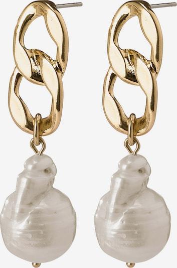 Pilgrim Ohrringe 'Gracefulness' in gold / perlweiß, Produktansicht