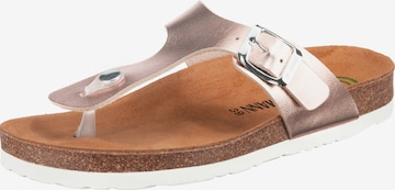 DR. BRINKMANN T-Bar Sandals in Pink