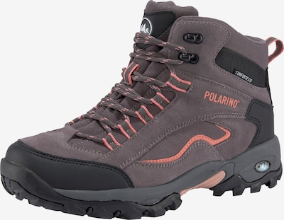 POLARINO Schuh in grau / rot / schwarz, Produktansicht