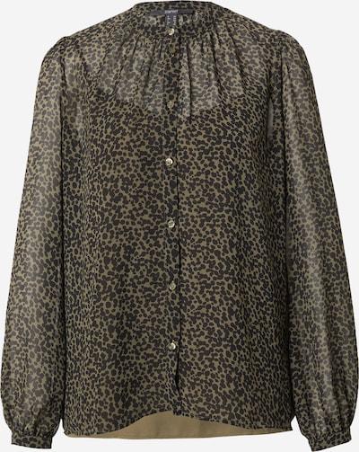 Esprit Collection Bluse in khaki / schwarz, Produktansicht