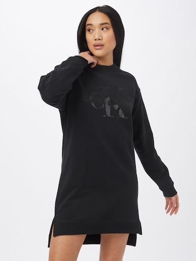 Abito Calvin Klein Jeans di colore bronzo / grigio scuro / nero / bianco, Visualizzazione modelli