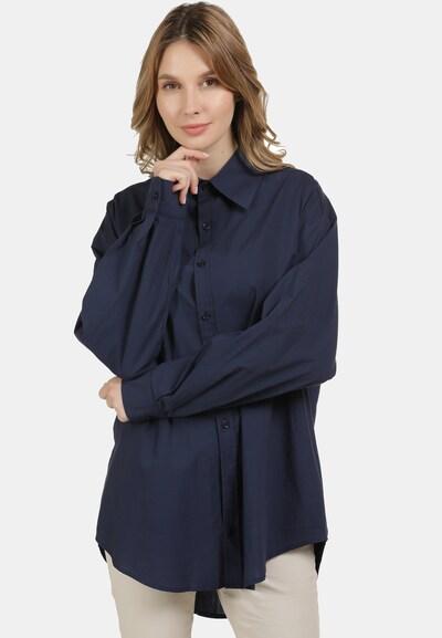 usha BLUE LABEL Bluse in marine, Modelansicht