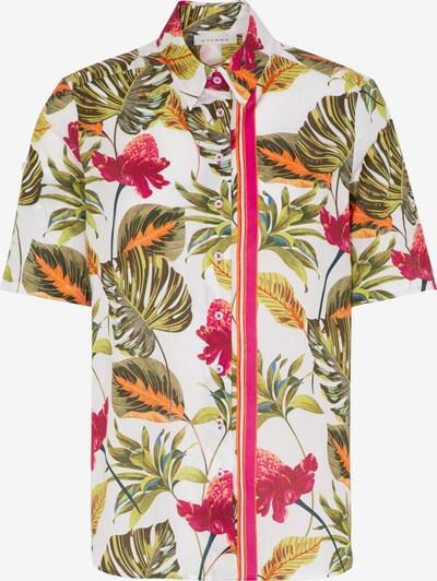 ETERNA Bluse in grün / pink / weiß, Produktansicht