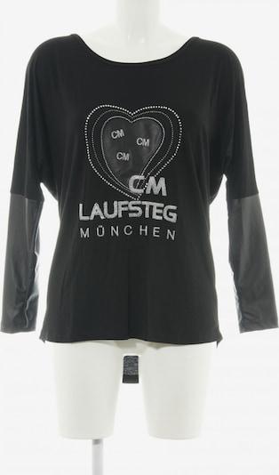 Laufsteg München Longshirt in S in schwarz / silber, Produktansicht