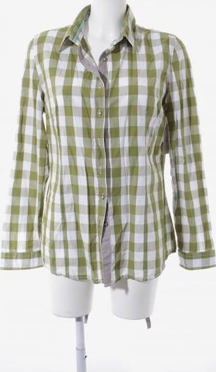 PUR Langarmhemd in XL in grün / oliv / weiß, Produktansicht