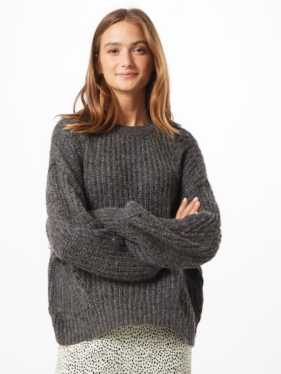 VILA Pullover 'REMINE' i grå-meleret, Modelvisning