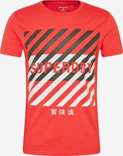 Superdry Shirt in rot / schwarz / weiß, Produktansicht