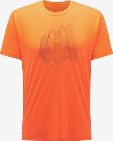 T-Shirt fonctionnel 'Glee' Haglöfs en orange