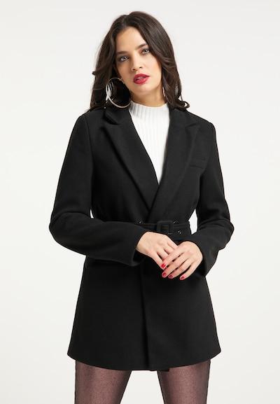 faina Manteau mi-saison en noir, Vue avec modèle