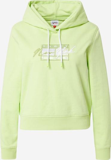 Tommy Jeans Sweatshirt in limette / weiß, Produktansicht