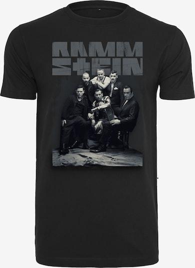 Mister Tee T-Shirt en gris / noir: Vue de face