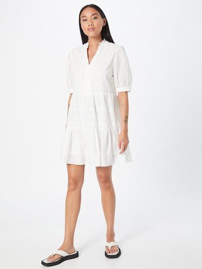 Rochie tip bluză Hailys pe alb, Vizualizare model