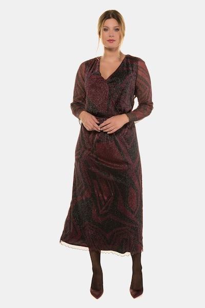 Ulla Popken Kleid in himbeer / schwarzmeliert, Modelansicht