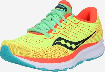 saucony Chaussure de course 'Ride 13' en bleu clair / jaune fluo / vert fluo / orange fluo, Vue avec produit