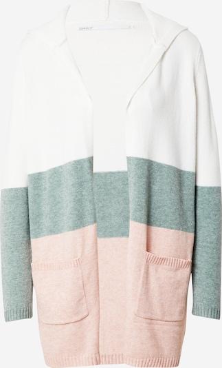 ONLY Pletena jopa 'LESLY' | večbarvno zelena / mešane barve / staro roza / off-bela barva, Prikaz izdelka