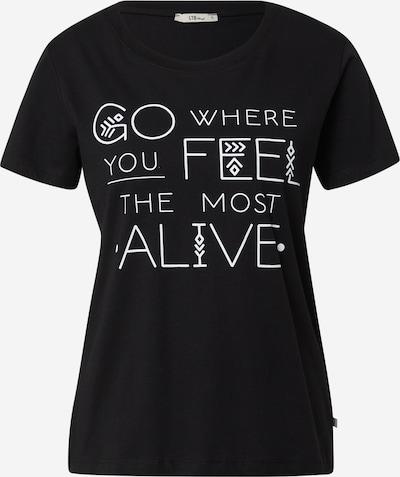 LTB Тениска 'MARAFA' в черно / бяло, Преглед на продукта