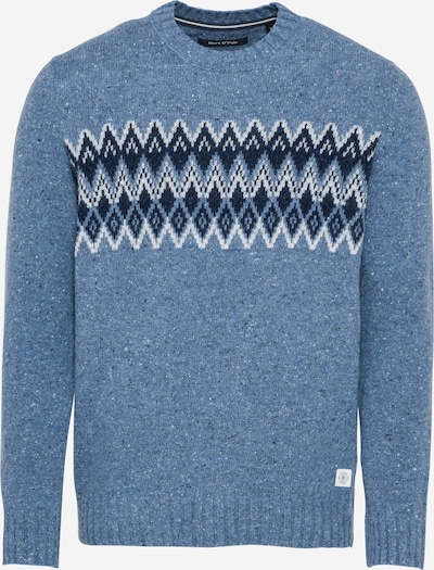 Marc O'Polo Trui in de kleur Marine / Duifblauw / Wit, Productweergave