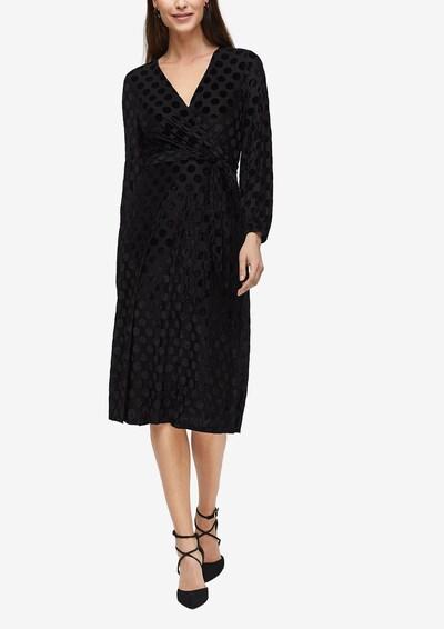 s.Oliver BLACK LABEL Jurk in de kleur Zwart, Modelweergave