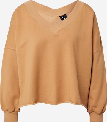 NIKE Athletic Sweatshirt in Orange