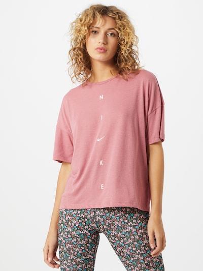 NIKE Tehnička sportska majica u roza / bijela: Prednji pogled