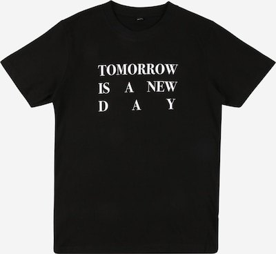Mister Tee Shirt 'New Day' in schwarz / weiß, Produktansicht