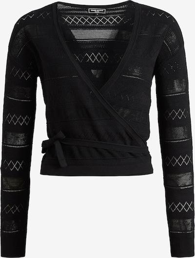 khujo Strickjacke ' Cappo ' in schwarz, Produktansicht