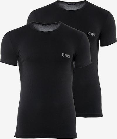 Emporio Armani T-Shirt en noir / blanc, Vue avec produit