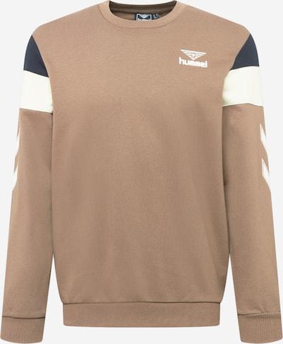 hummel hive Sweatshirt 'STEPHAN' in beige / dunkelblau / braun, Produktansicht