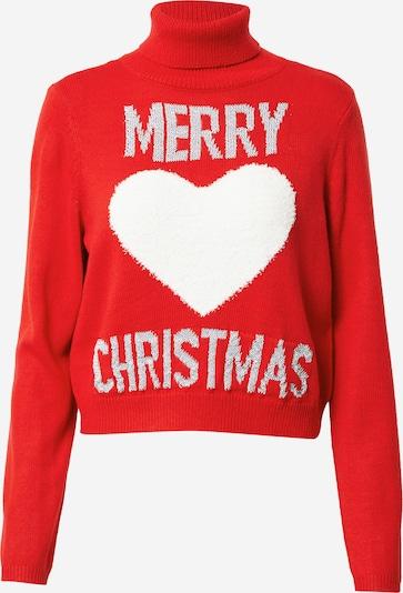 ONLY Pullover in grau / rot / weiß, Produktansicht