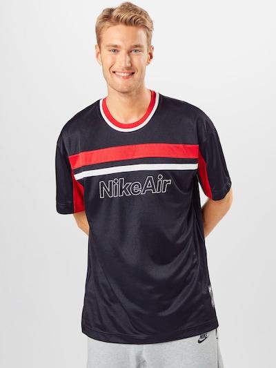 Nike Sportswear Shirt in rot / schwarz / weiß: Frontalansicht