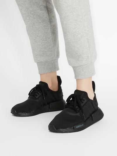 Sneaker low 'NMD_R1' ADIDAS ORIGINALS pe negru: Privire frontală