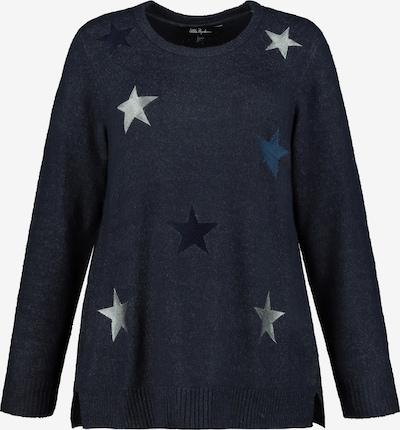 Ulla Popken Trui in de kleur Marine / Nachtblauw / Zilver, Productweergave