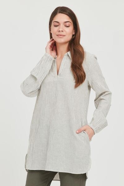 Fransa Tunika in grün / weiß, Modelansicht